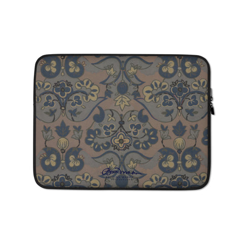 Not Quite Paisley On Light Brown Laptop Sleeve