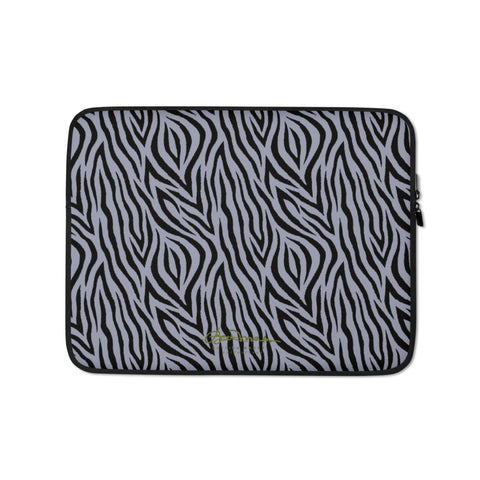 Grey Zebra Laptop Sleeve
