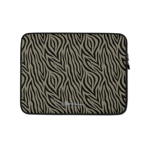 Khaki Zebra Laptop Sleeve
