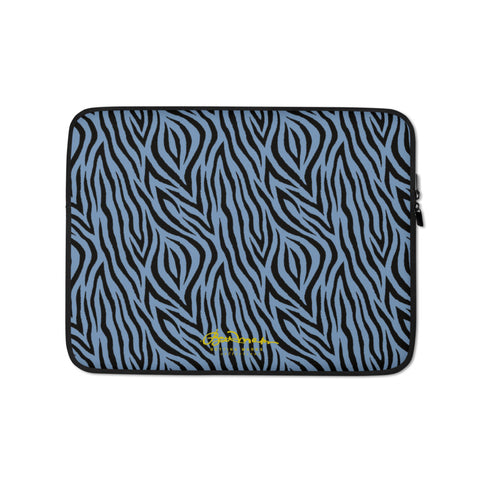 Blue Zebra Laptop Sleeve