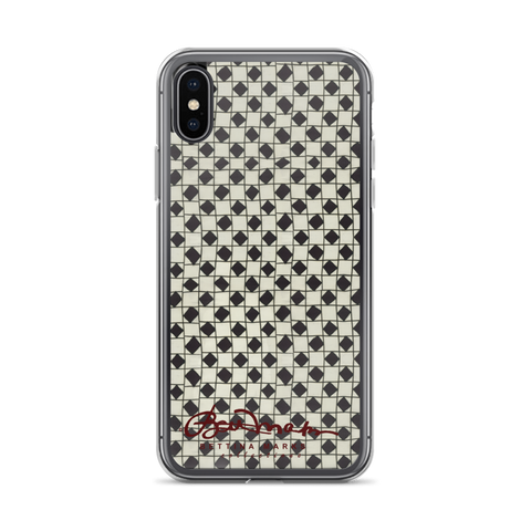 B&W Checkerboard Tough iPhone X Case