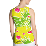 Strawberry Tropic Fitted Tank Top Back