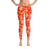 Sixties Floral Leggings Front