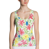 Wildflower Fitted Tank Top Front