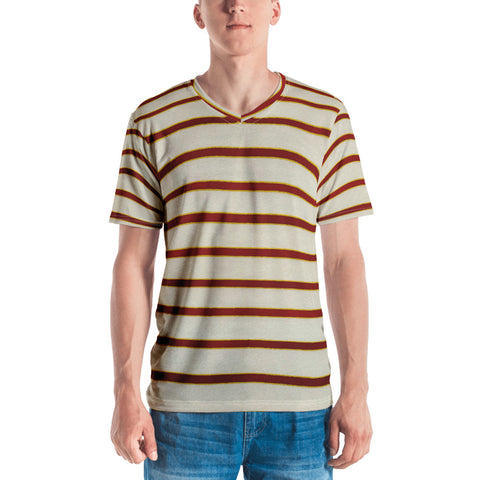 Red White Stripe Men's T-shirt