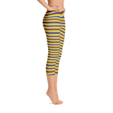 Riviera Stripe Capri Leggings Right