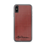 Maroon Tough iPhone X Case