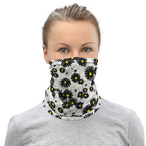 Face Mask Mock Turtle Neck Daisies