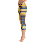 Riviera Stripe Capri Leggings Left
