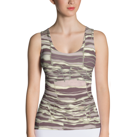 Techno Fitted Tank Top Front