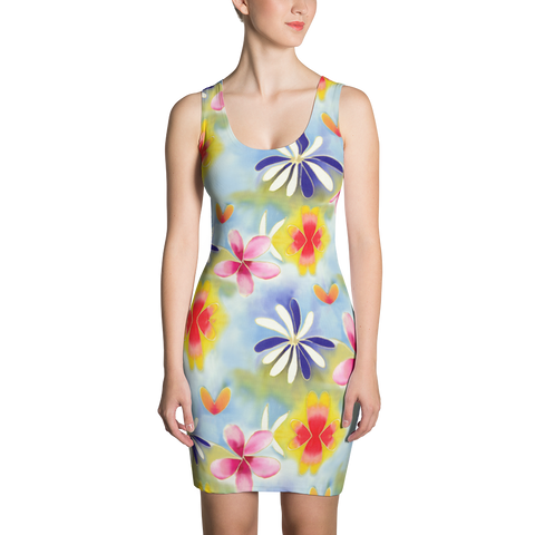 Sunrise Floral Fitted Dress