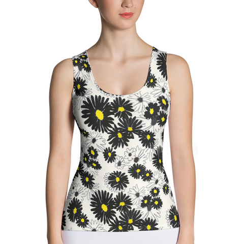 Daisy Fitted Tank Top Front