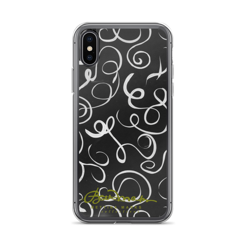 Tough B&W Squiggles iPhone X Case