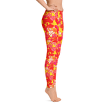 Sixties Floral Leggings Right Side