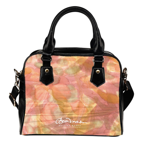 Watercolor Smudge Hand Bag w Shoulder Strap