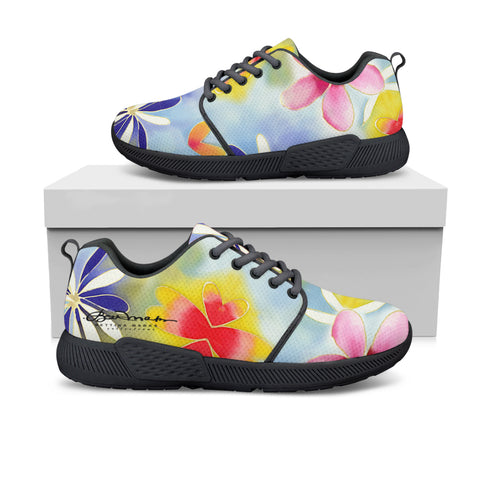 Sunrise Floral Athletic Sneakers