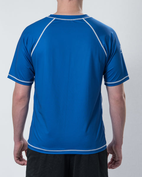 1- Pack Men's DarkLight Reversible Short Sleeve Jersey - Cobalt Blue