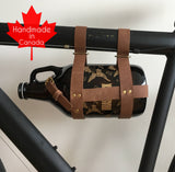 The Vancity Biker - Leather Growler Carrier - North City Growlers