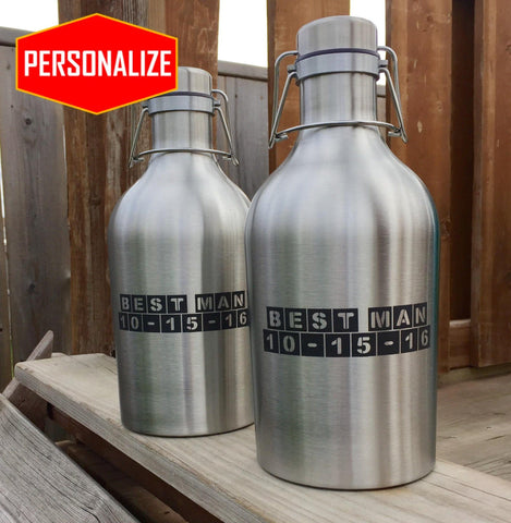 The Flipper - Stainless Steel Flip Top Growler - North City Growlers