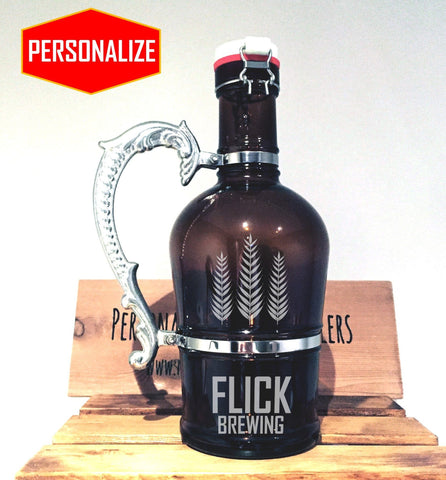 The Viking - 2L Glass Growler w/ Handle