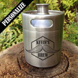 The Kegger - Mini Keg Stainless Steel Growler - North City Growlers