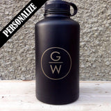 The Ninja  - Black Stainless Steel Growler - North City Growlers