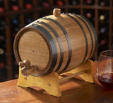 2L Oak Barrel with Stand, Spigot and Bung - North City Growlers
