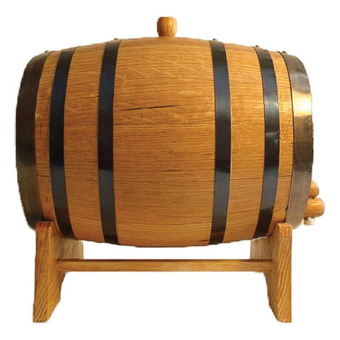 10L Oak Barrel with Stand, Spigot and Bung - North City Growlers