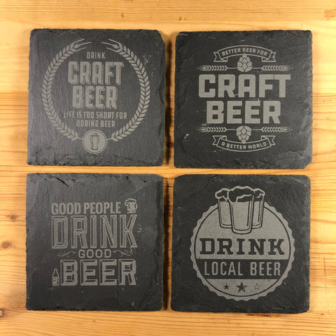 Slate Beer Coasters - North City Growlers