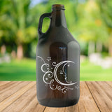 Kombucha Collection - 64 oz Amber Glass Growler - North City Growlers
