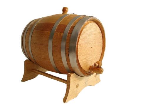 3L Oak Barrel with Stand, Spigot and Bung