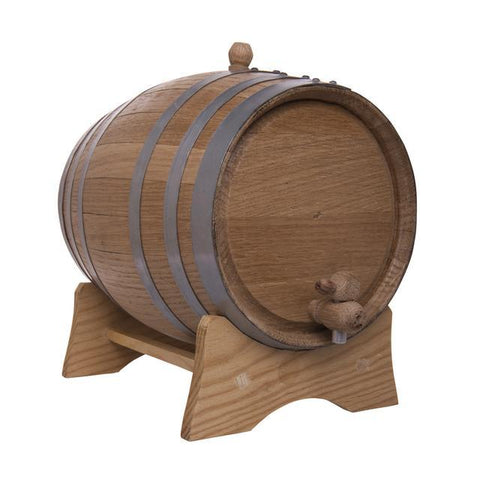 5L Oak Barrel with Stand, Spigot and Bung