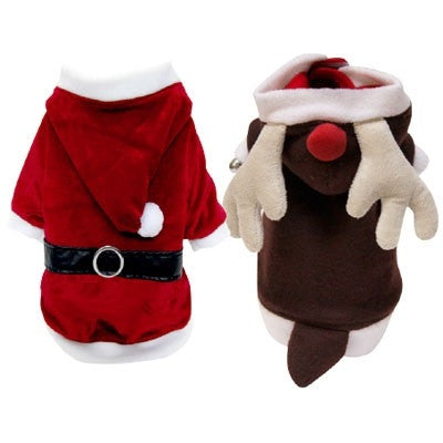 Reversible Reindeer Santa Suits