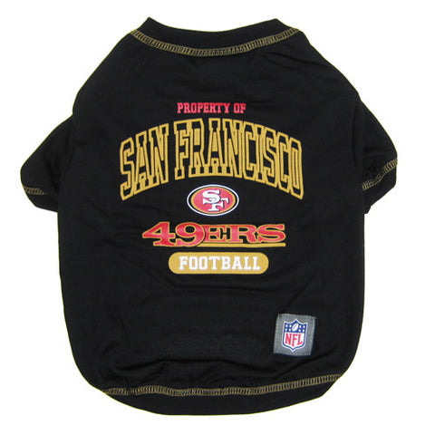 San Francisco 49'er Pet T-Shirt Property Of