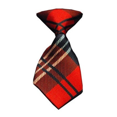 Red Plaid Neck Tie