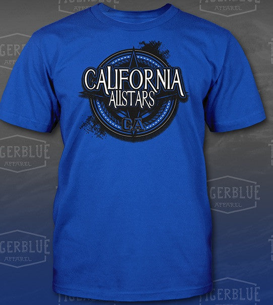 California Allstars Circle Star Black T - shirt
