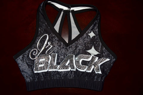 Jr Black Team Sports Bras
