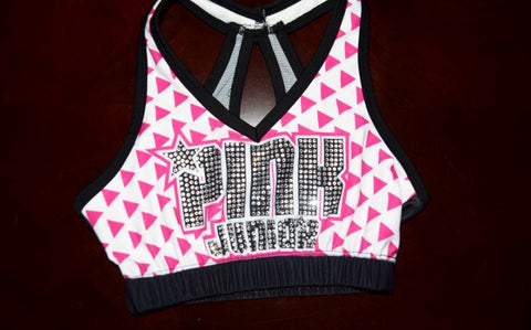 Jr Pink Team Sports Bras