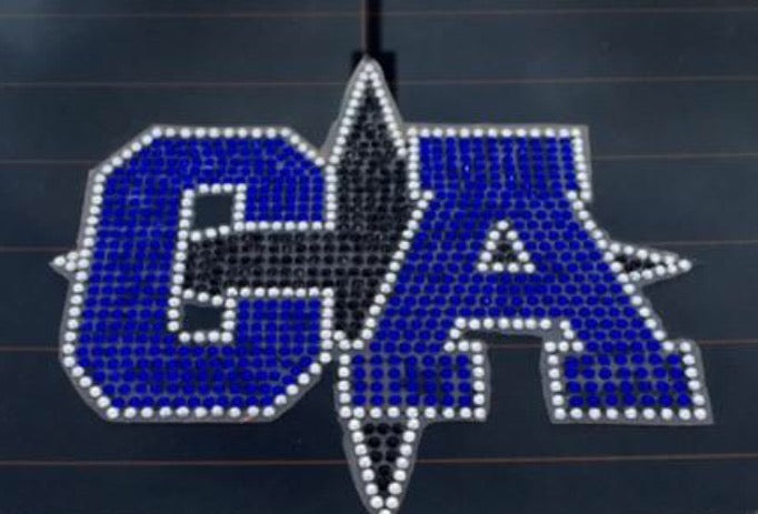 CA Bullets Bling bumper sticker