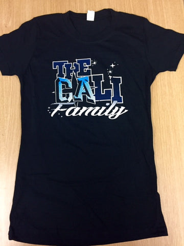 Black Cali Family T-shirt (Girly Fit)