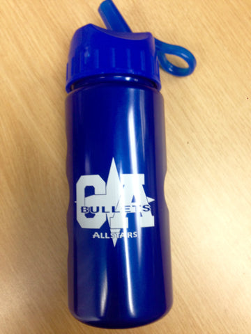 CA Bullets Blue Water Bottle