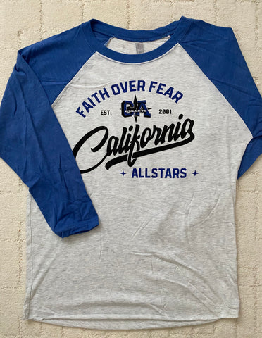 California Allstars 3/4 sleeve T-shirt