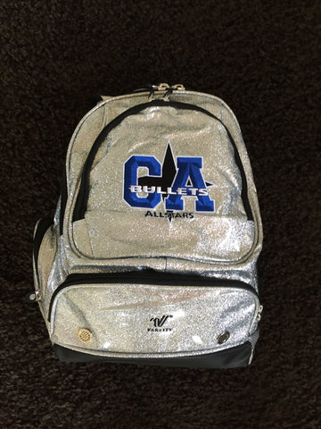 CA Logo Silver Sparkle Backpack