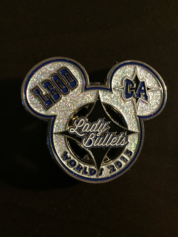 Lady Bullets LBOD Worlds Pin