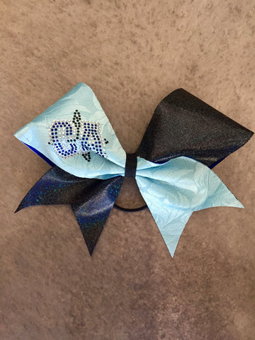 CA Baby Blue and Kaleidoscope Black Bow