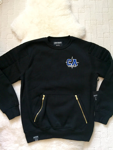 Black CA Gold Zipper Sweatshirt