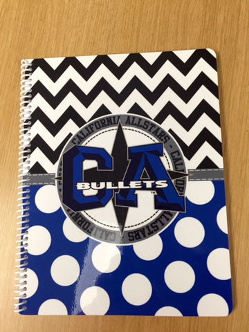 CA Bullets spiral notebook