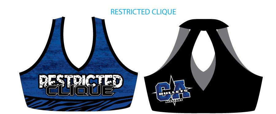Restricted Clique Team Sports Bra