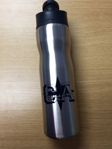 CA Bullets Silver Sports Water Bottle