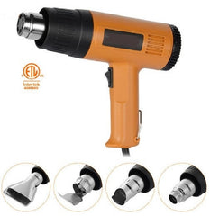 1500W Heat Gun Hot Air Wind Blower with 4 Nozzles and Two Heat Levels Power Heater